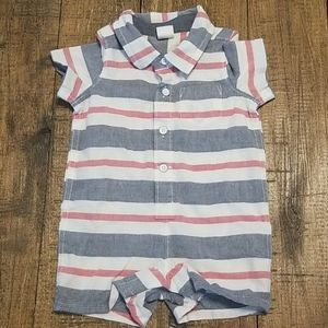 Baby Gap red, white and blue collar onsie
